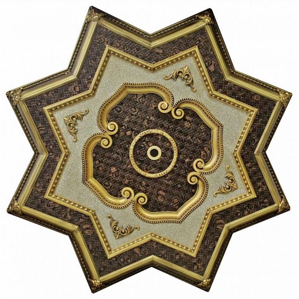 150 Cm Yildiz Osmanli Saray Tavan Sf-234 Avize Gobegi Patina-Eskitme Altin Varakli 3D