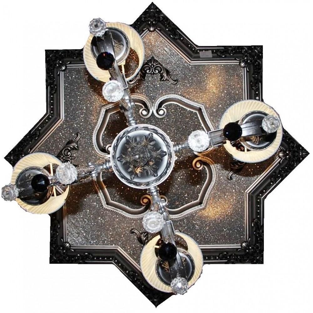 110 Cm Yildiz Osmanli Saray Tavan Sfa-356 Avize Gobegi Patina-Eskitme Gumus Varakli 3D