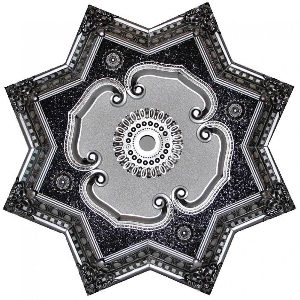 80 Cm Yildiz Osmanli Saray Tavan Sfa-373 Avize Gobegi Patina-Eskitme Gumus Varakli 3D
