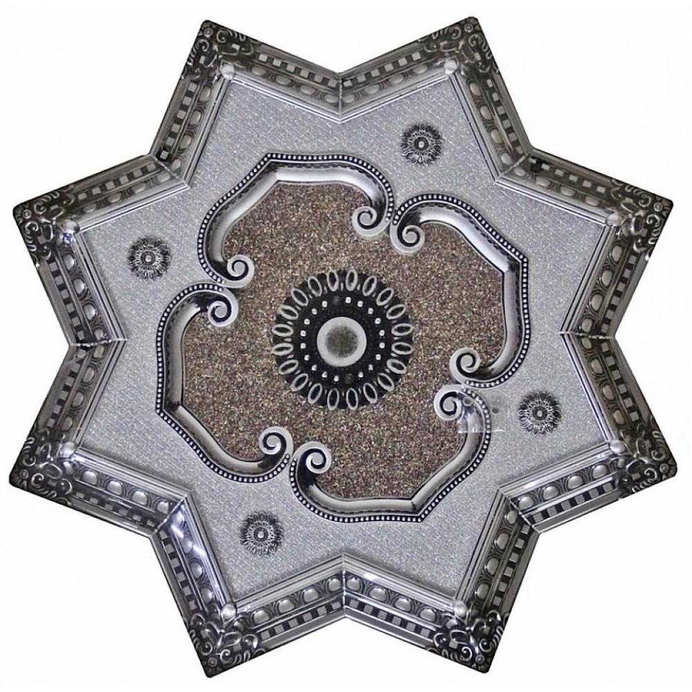 90 Cm Yildiz Osmanli Saray Tavan Sfa-415 Avize Gobegi Patina-Eskitme Gumus Varakli 3D