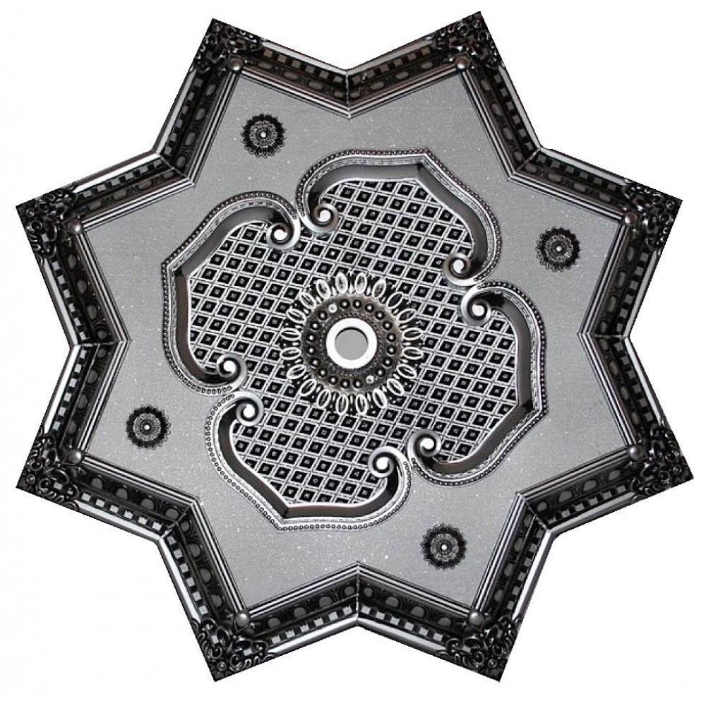 90 Cm Yildiz Osmanli Saray Tavan Sfa-416 Avize Gobegi Patina-Eskitme Gumus Varakli 3D