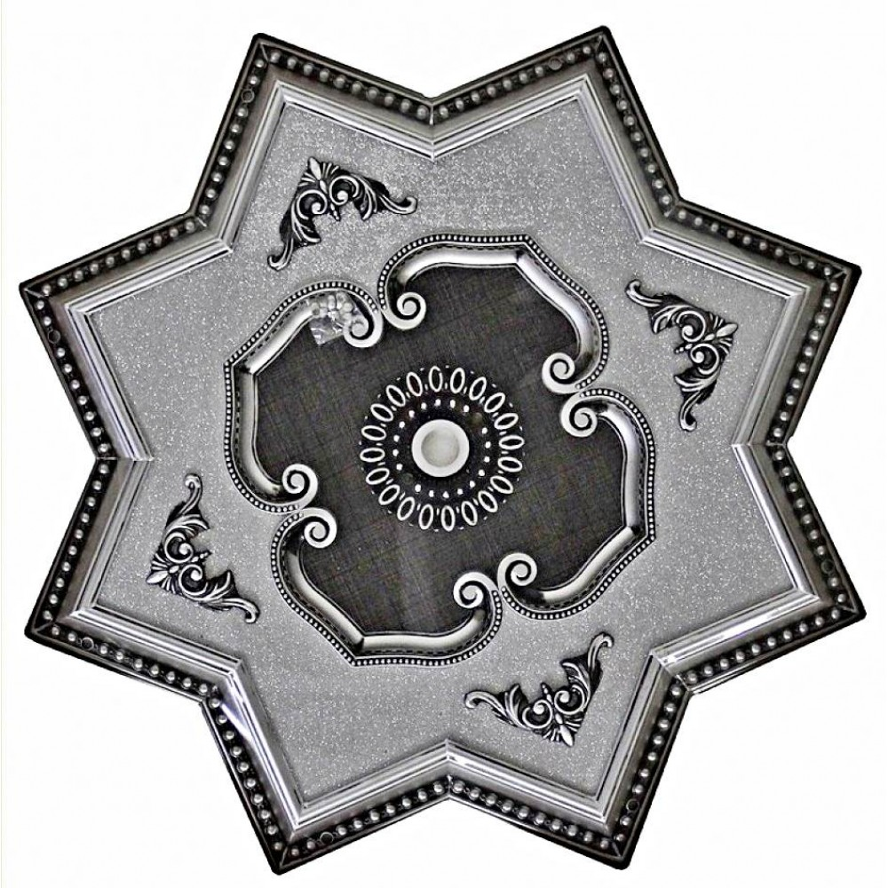 100 Cm Yildiz Osmanli Saray Tavan Sfa-521 Avize Gobegi Patina-Eskitme Gumus Varakli 3D