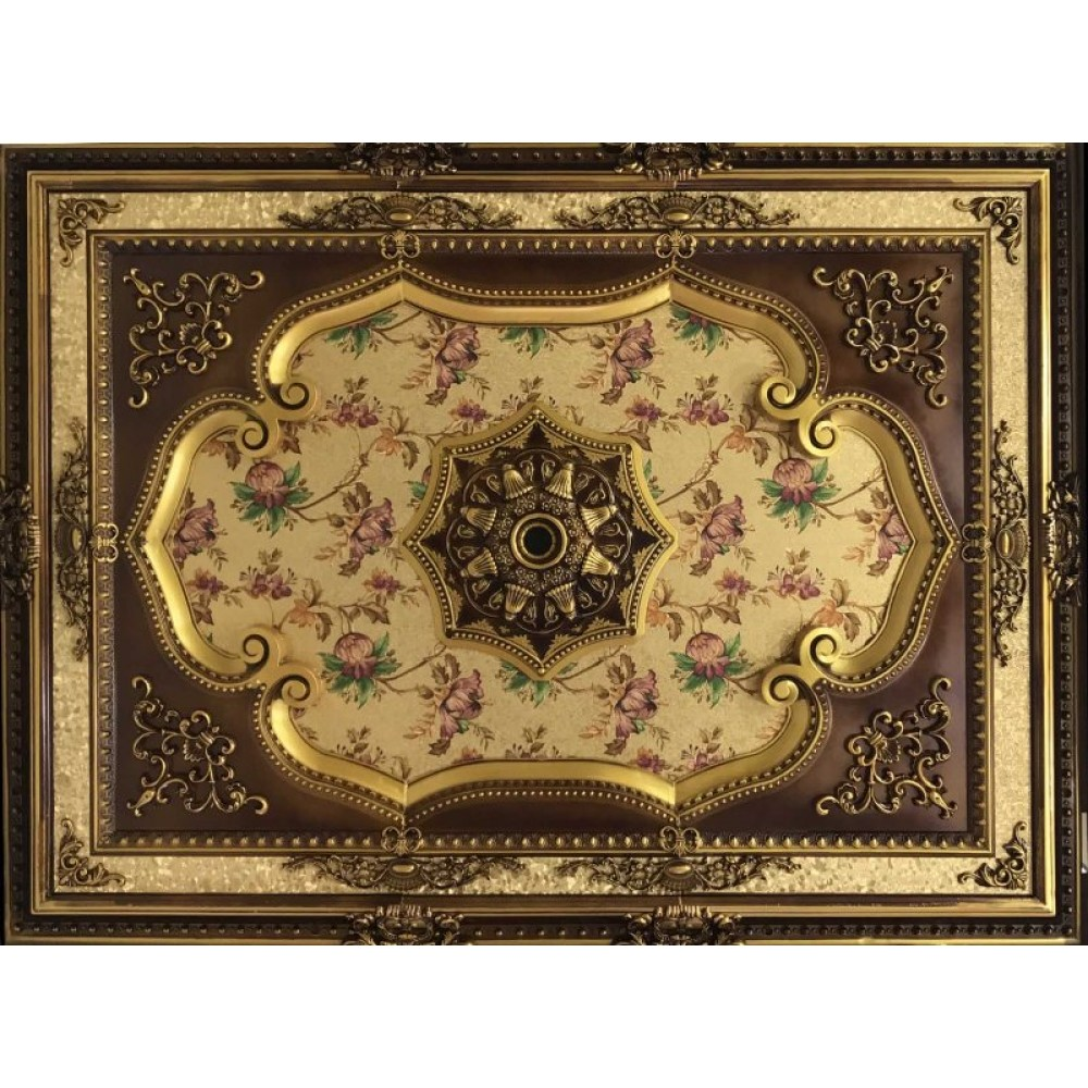 120x160 Cm Dikdortgen Osmanli Saray Tavan Sf-573 Avize Gobegi
